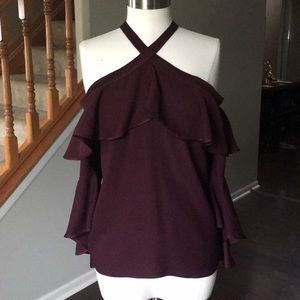 NEW Bell Sleeve Blouse with Ruffle Details